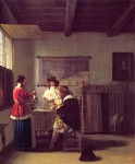 The_Visit_Pieter_deHooch_ca_1657