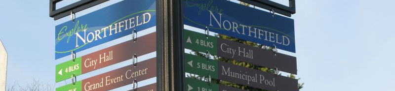 Explore Northfield signage