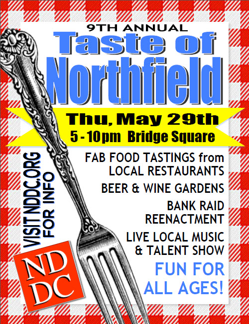 Taste of Northfield 2014 poster