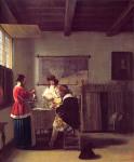 The_Visit_Pieter_deHooch_ca_1657